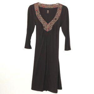 Prana Old Logo 3/4 Sleeve Empire Waist Dress R